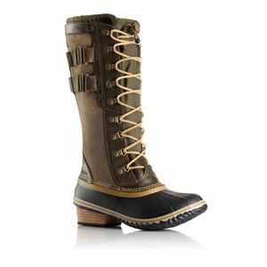 NEW! SOREL Conquest Carly II Boots, Peatmoss - 8.5